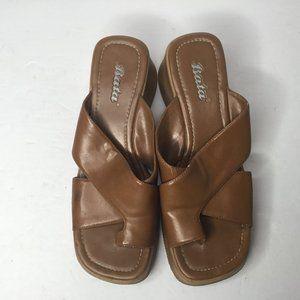 2@ $25 Bata Womens Brown Sandal Size 8